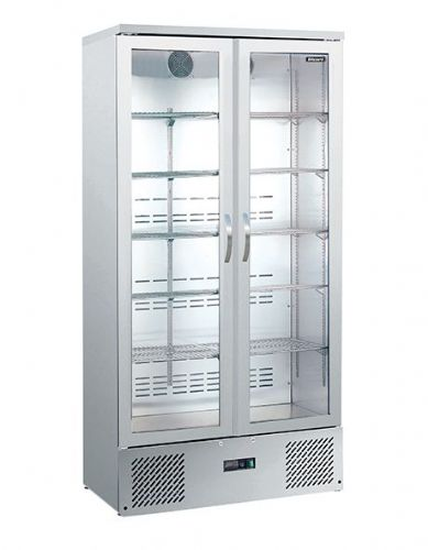 Blizzard BAR20SS Upright Double Door Ss Bar Bottle Cooler (492 Btl)